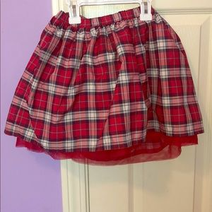 Lands end plaid skirt